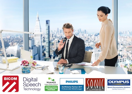 Bicom, Philips, Nuance, Olympus, Sonic Labs, Dictation, Speech processing, Dragon, Speech recognition